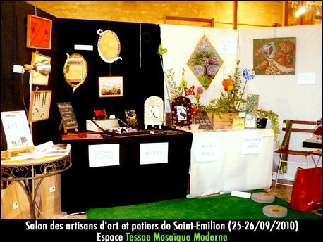 Salon des artisans d'art et potiers à Saint-Emilion (septembre 2010)