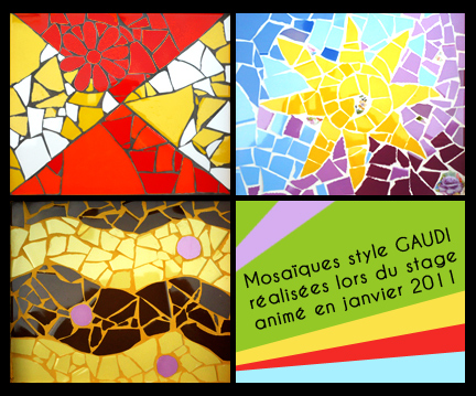 Bordeaux : stage mosaïque style GAUDI