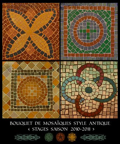 Stage mosaïque antique à Bordeaux