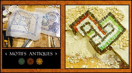 Motifs de mosaïque antique