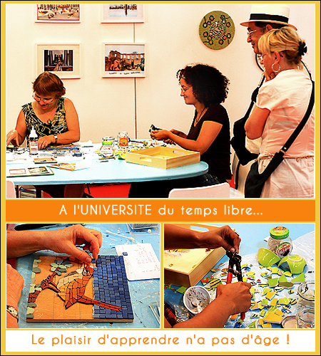 Découvrir la mosaïque à l'Université du temps libre - Bordeaux
