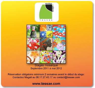 Brochure stage mosaïque à Bordeaux 2011-2012