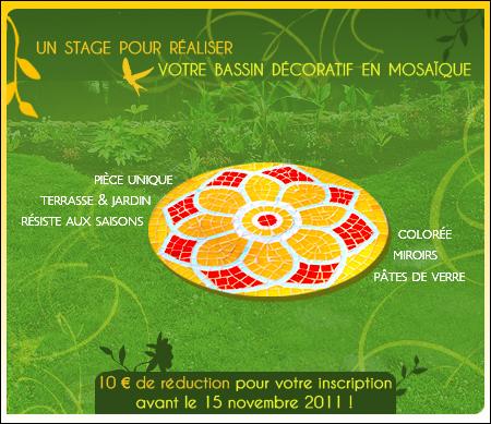 Un stage pour réaliser votre bassin décoratif en mosaïque, Bordeaux