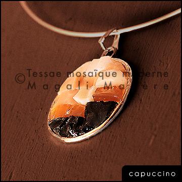 """capuccino"" - pendentif mosaïque"
