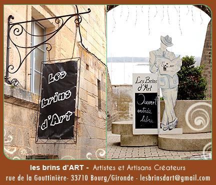 les brins d'ART, artistes et artians créateurs, Bourg sur Gironde