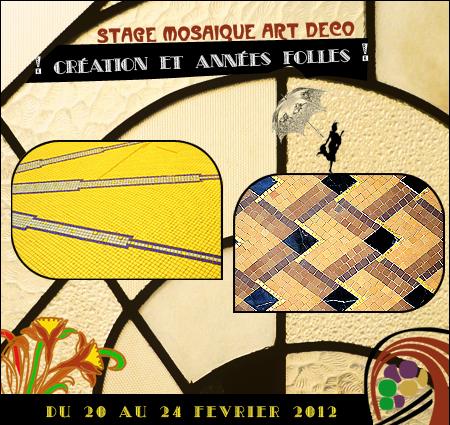 Stage mosaïque style Art déco à Bordeaux