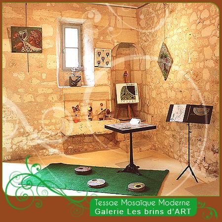 Tessae mosaïque moderne, galerie les brins d'ART, Bourg sur Gironde