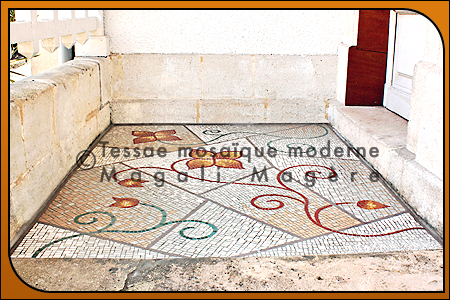 Création d'un sol en mosaïque, Arcachon