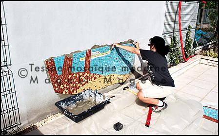 Mosaïque murale, Bordeaux